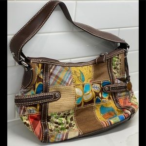 FOSSIL PATCHWORK MULTIMEDIA BAG